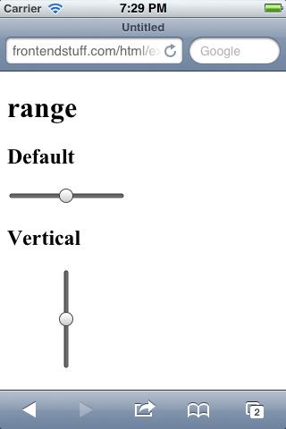 iOS Range Input