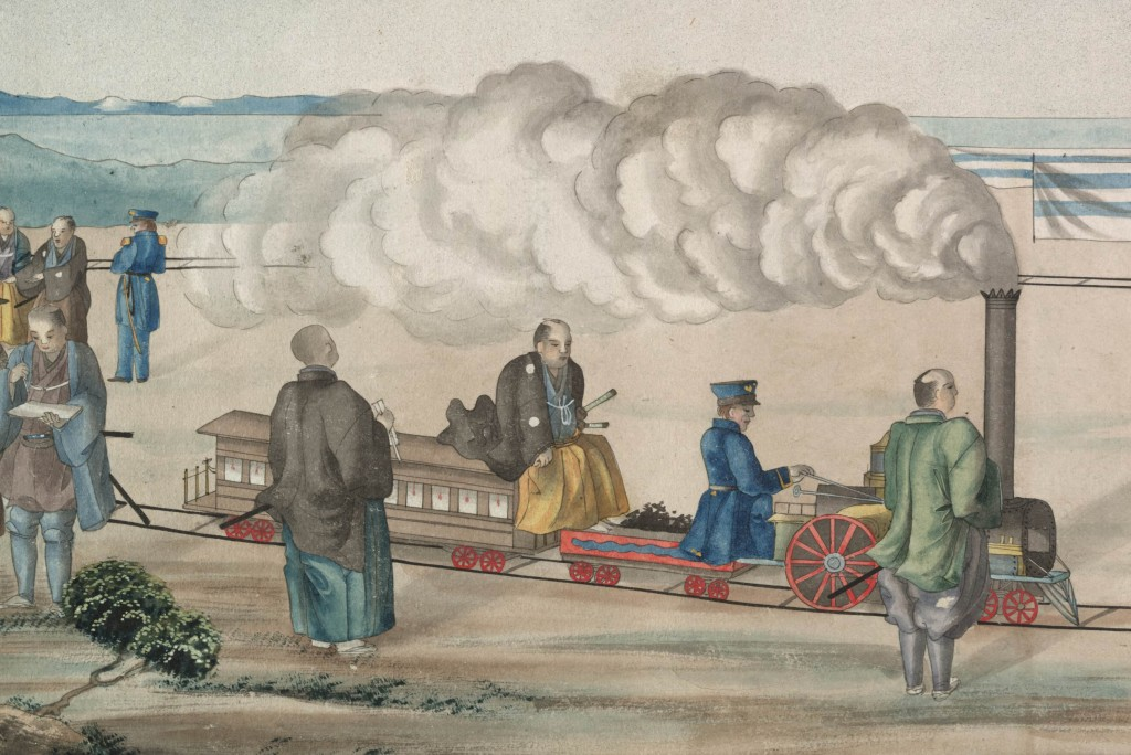 Matthew C. Perry and the gift of the miniature train to Japan