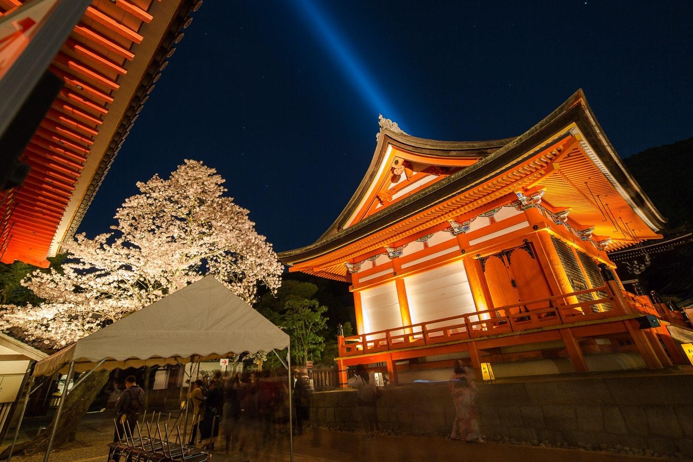 Kiyomizudera lightup in Kyoto, Japan