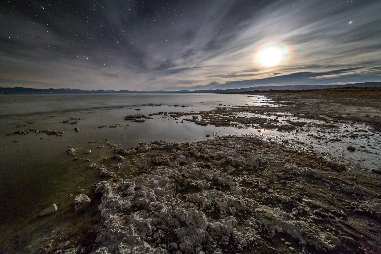 Alien moonrise on the shores of Mono Lake