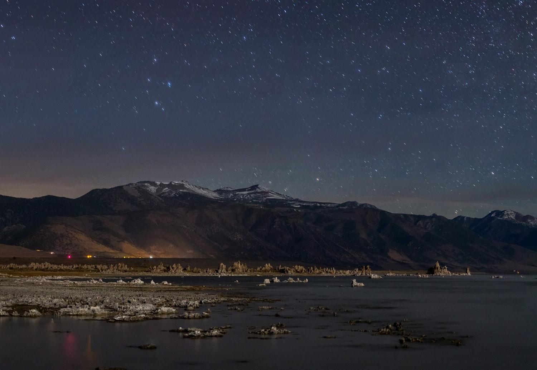 Mono Lake at night