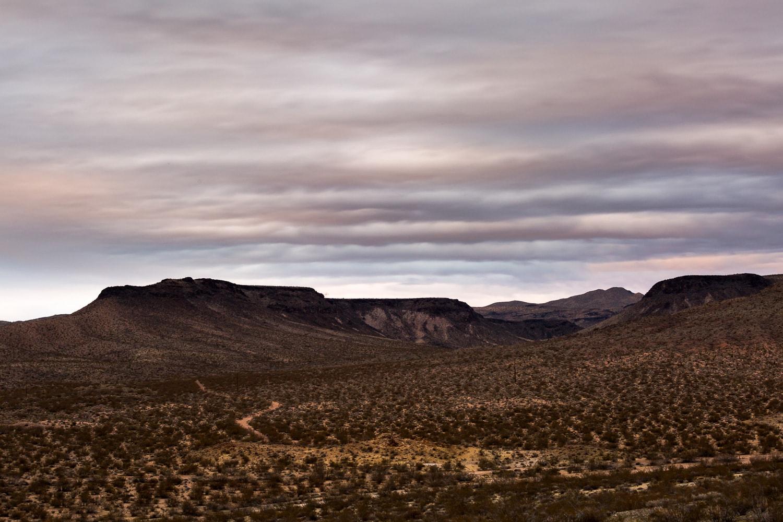 Desert sunset, near Baker, Nevada