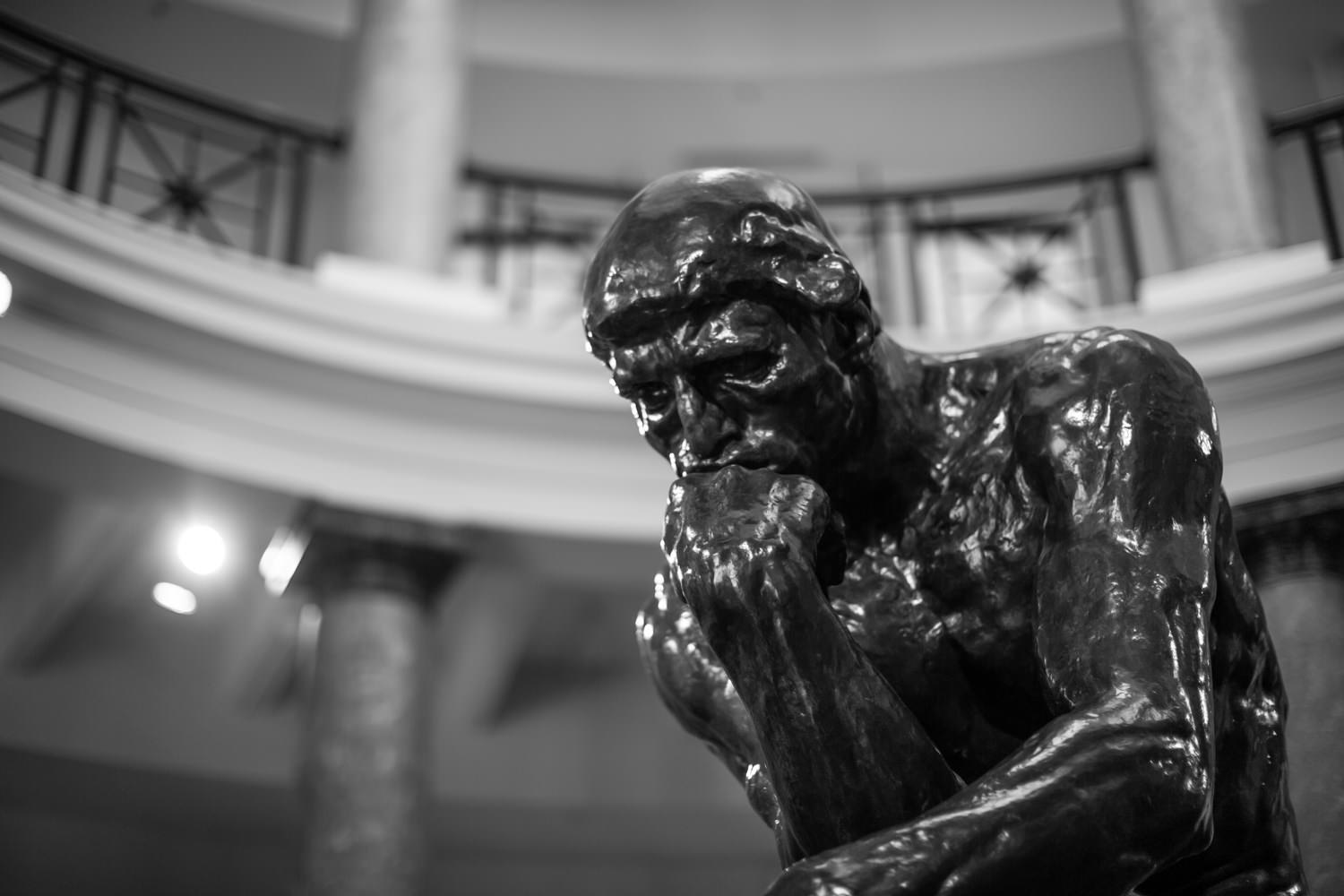 The Thinker by Rodin at Stanford University (April 2018)