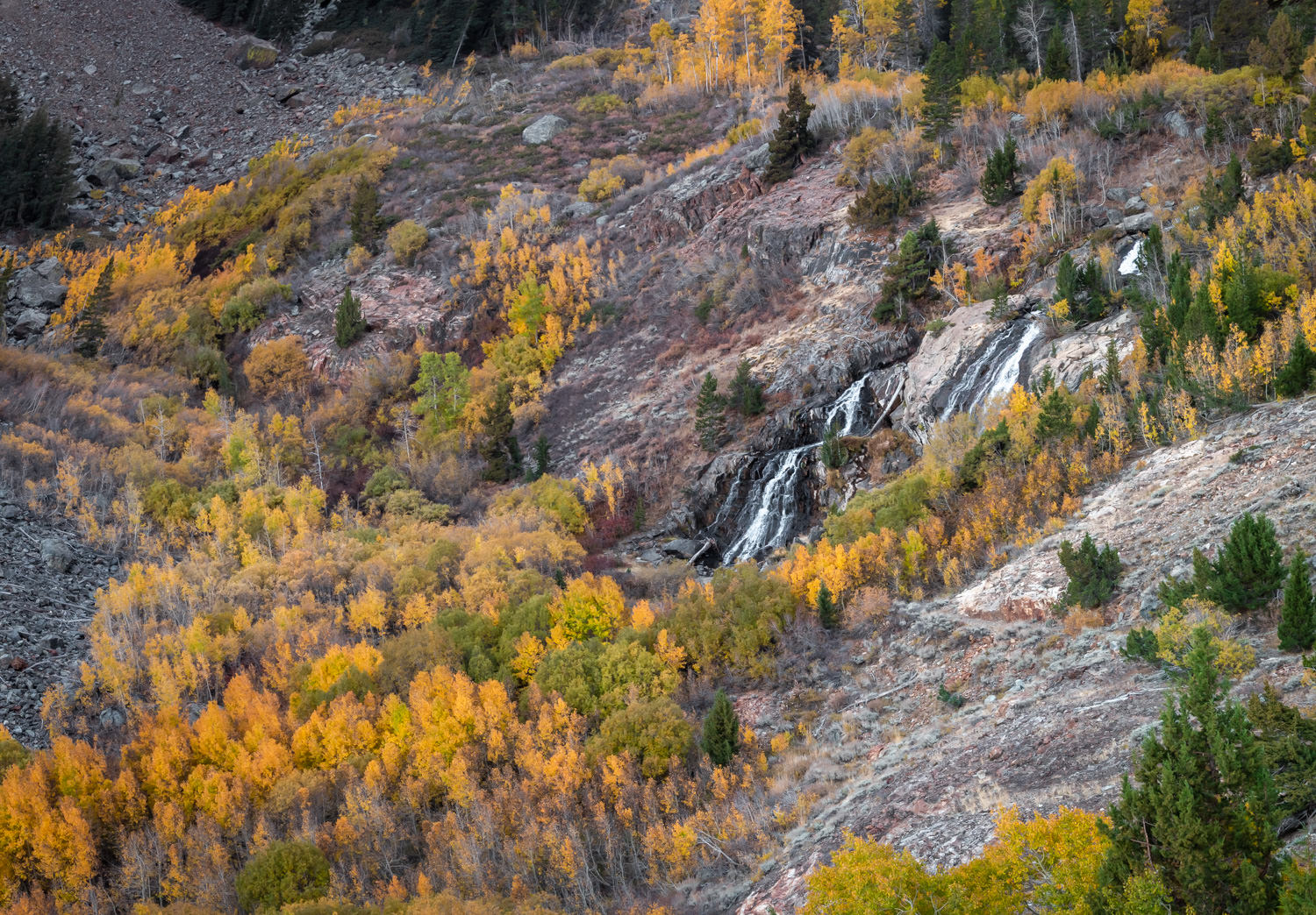 Lundy canyon waterfall (October 2018)