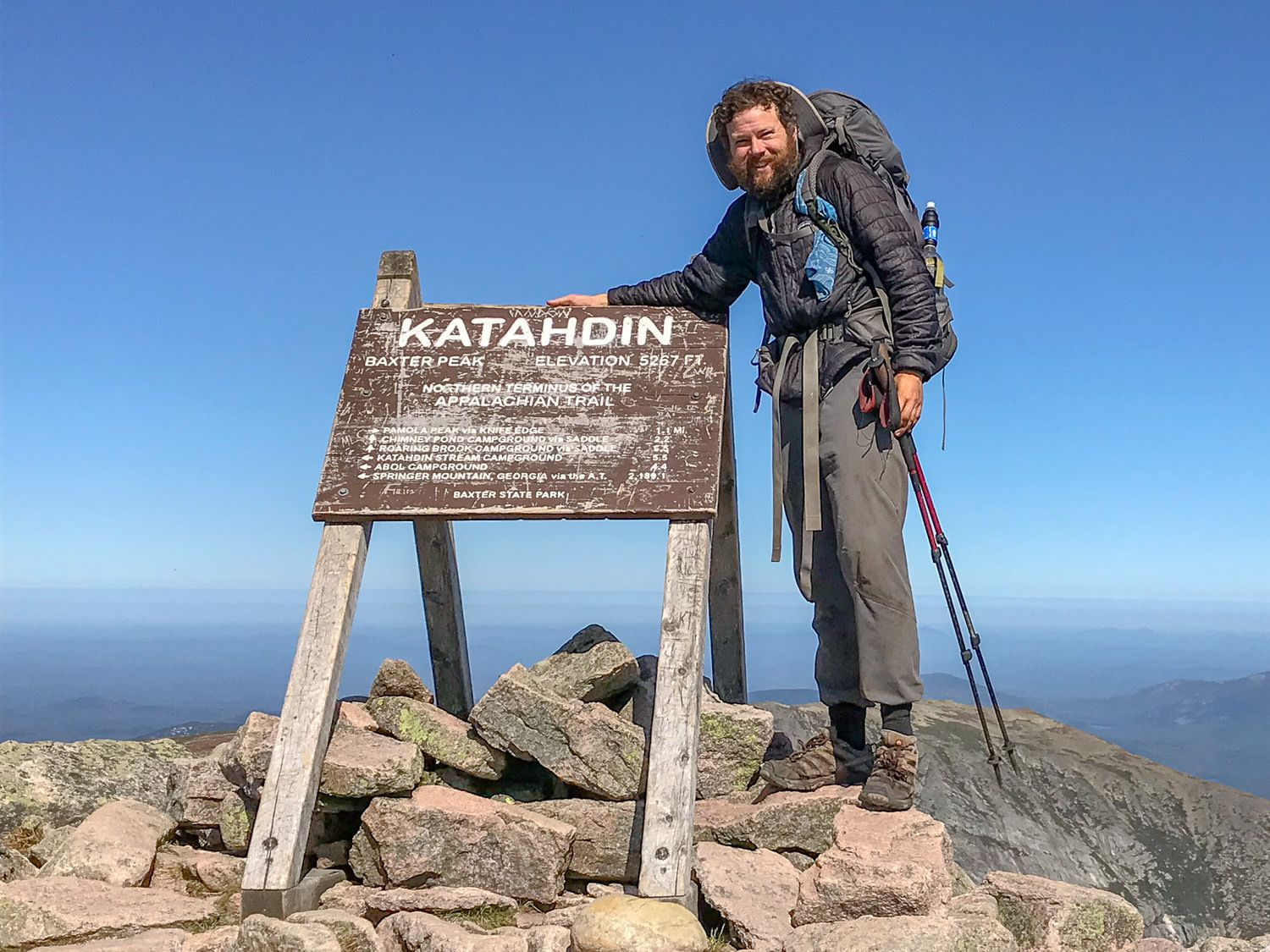 Yours truly standing at the top of Mt Katahdin