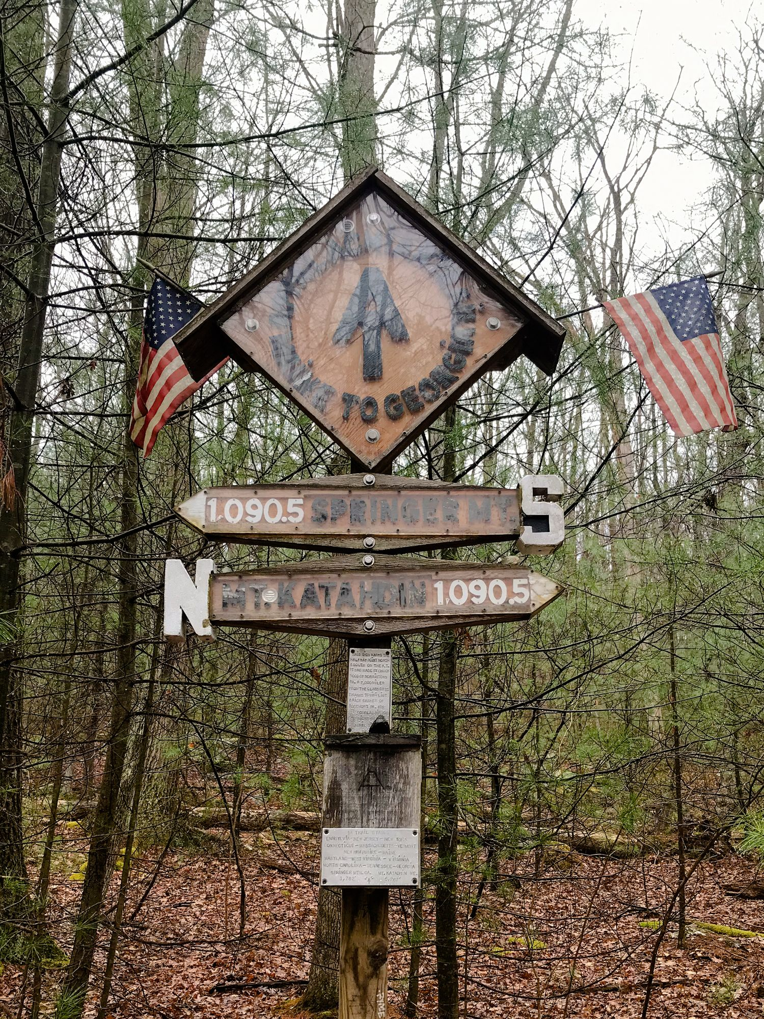 Appalachian Trail halfway point #2